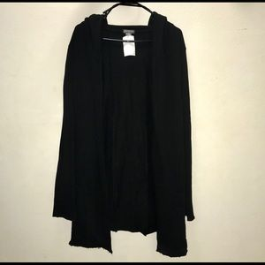 H&M Black Hood Cardigan